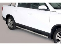 Side Steps Ssangyong Musso 2018+ DC Stainless Steel Tube 76MM