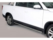 Side Steps Ssangyong Musso 2018+ DC Stainless Steel GPO
