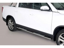 Side Steps Ssangyong Musso 2018+ DC Stainless Steel DSP
