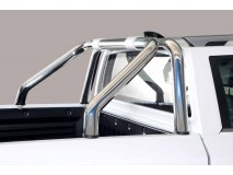 Short Roll-Bar Ssangyong Musso 2018+ Stainless Steel W/O Brand Logo